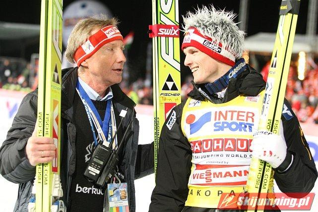 Walter Hofer i Thomas Morgenstern - fot. Tadeusz Mieczyński