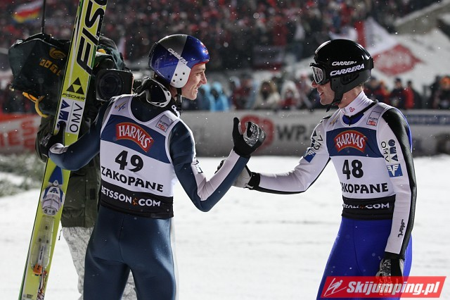 Gregor Schlierenzauer i Wolfgang Loitzl - fot. Tadeusz Mieczyński